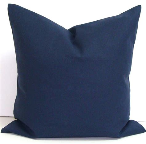 Navy Blue Pillows Solid Navy Blue Pillow 24x24 Inch Decorative By Elemenopillows