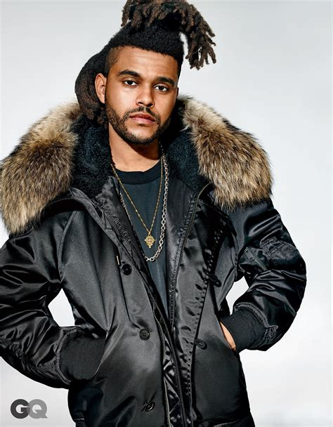 the weeknd s the weeknd models kanye west s yeezy collection for gq