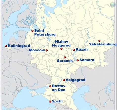 world cup 2018 host cities map 11 cities that will host the 2018 world cup in russia
