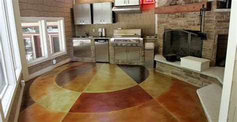 Kitchen Floor Design Ideas Concrete Flooring Finishing Styles Colors And Options
