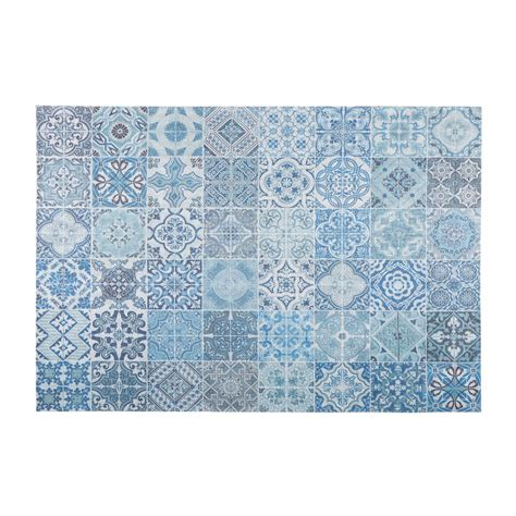 tappeto in tappeto in tessuto con motivi a mattonelle di cemento