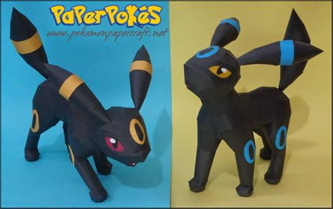 Umbreon Papercraft - umbreon howl attack papercraft paperkraft net free