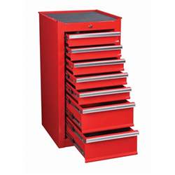 Small Tool Cabinet 18 In 7 Drawer Glossy End Cabinet For Roller Tool Chest
