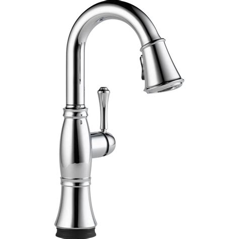 delta chrome kitchen faucets delta cassidy touch single handle pull down sprayer kitchen faucet chrome