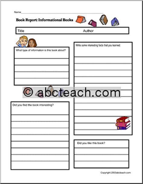 abc book report non fiction book report ideas middle school book report