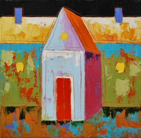 house paintings maxine price paintings house with two chimneys