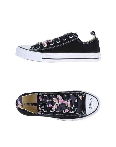 converse low black converse low tops trainers in black lyst