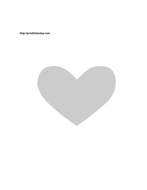 printable valentine stencils free printable heart stencil stencils pinterest free