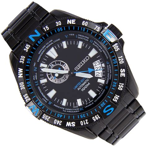Seiko 5 Sports Srp645k1 Pilot Limited Edition Black Jam Pria Srp645 seiko limited edition sports ssa115j1 ssa115j