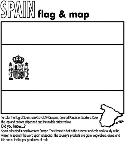 Spain Flag Coloring Page spain crayola au