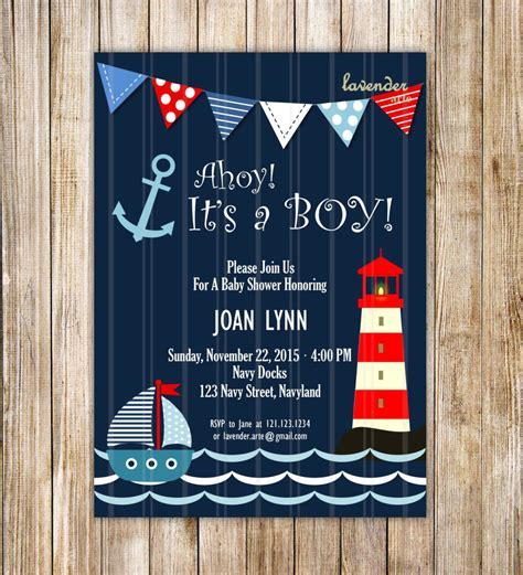 Nautical Theme Baby Shower Invitations by Nautical Theme Baby Shower Invitations Free Invitation Ideas