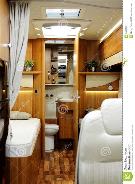 Model Home Interior Designers New Motor Home Inside View Stock Image Image 35566111