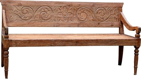 carved wooden benches teak bench teak furniture bali indonesia