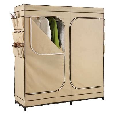 Portable Wardrobe Closet On Wheels - 60 quot door portable storage closet target