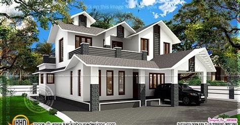 2015 sq ft sloping roof home kerala home design and 1700 square feet sloping roof villa home kerala plans