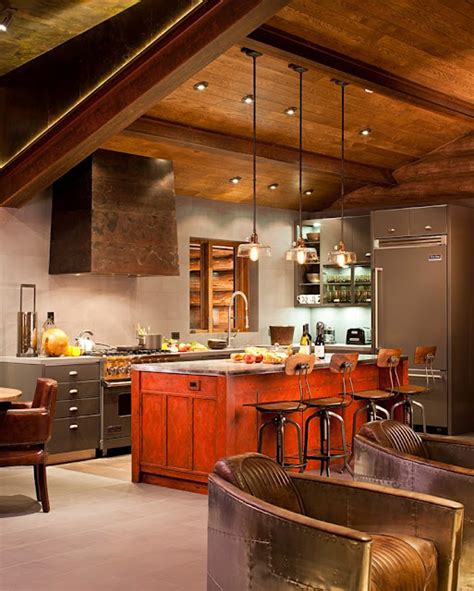 lodge kitchen rustic and contemporary interior design by trulinea