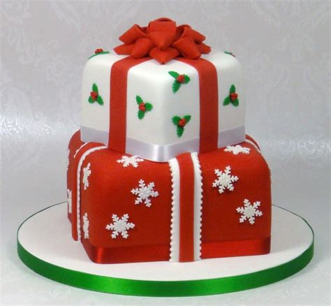 christmas gift box fondant cake instructions presents stacked cake cakecentral