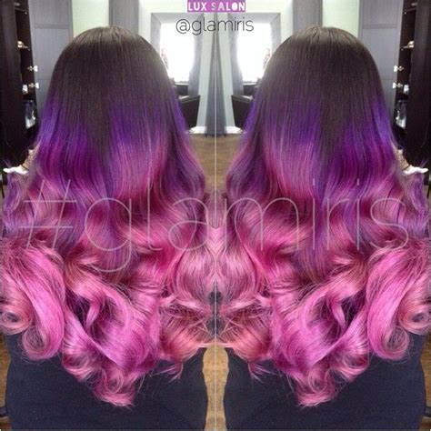 pink and purple ombre thatgirlshaexo i think you would look gorgeous with this