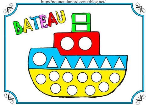 dessin bateau gommettes coloriage 224 gommettes le bateau dessin 233 par nounoudunord