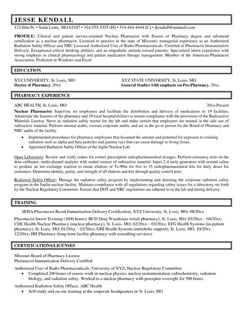 Intern Pharmacist Sle Resume by Clinical Pharmacist Resume Cover Letter Cover Letter
