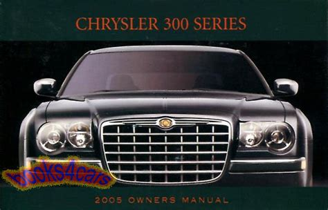 free online auto service manuals 2005 chrysler 300c electronic throttle control 2005 chrysler 300 owners manual book 300c factory handbook hemi 5 7 pentastar v6 ebay