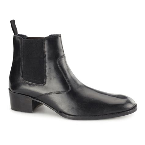 gucinari lucca mens leather formal chelsea boots black