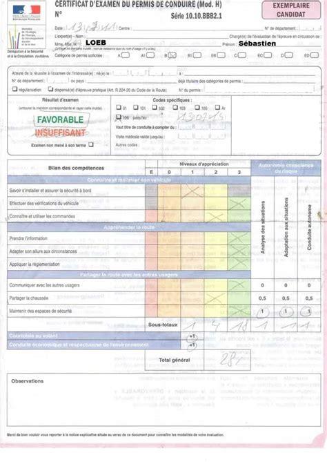 Grille Examen Permis by Evaluation Examen Permis Conduire Astuce Beaut 233