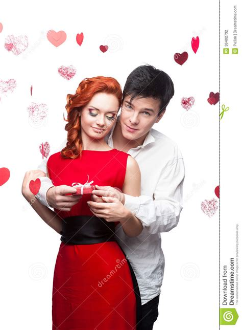 couples valentines smiling on valentines day stock photo image
