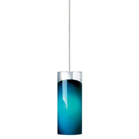 Lbl Lighting Horizon 1 Light Satin Nickel Led Mini Pendant Blue Mini Pendant Light