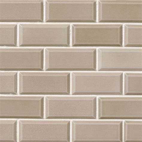 1 X 2 Ceramic Subway Tile by Ms International Subway Tile Mosaic 2 X 4 Taupe
