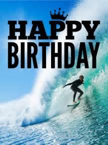 catch the wave happy birthday card birthday amp greeting