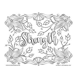 color for strength flower coloring pages