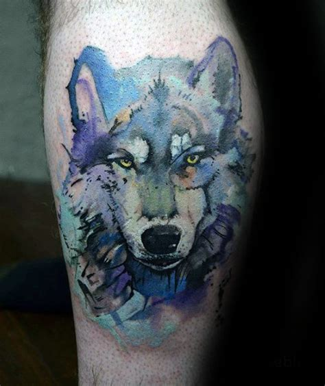 wolf watercolor tattoo 50 wolf watercolor designs for cool ink ideas