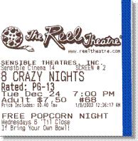 Printed Ticket Font | sensible cinema box office pro for dos