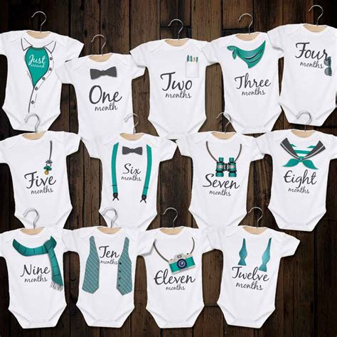 Car Wall Stickers For Boys cutest baby boy milestone bodysuit set ever jonley gifts