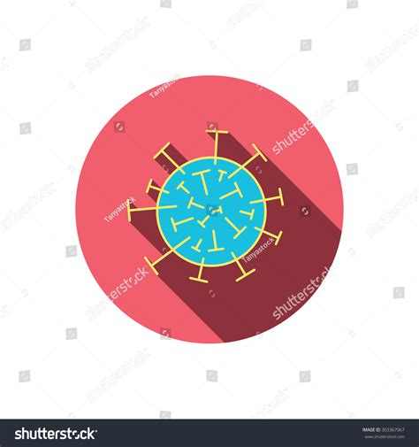 layout editor cell flat virus icon molecular cell sign biology organism symbol