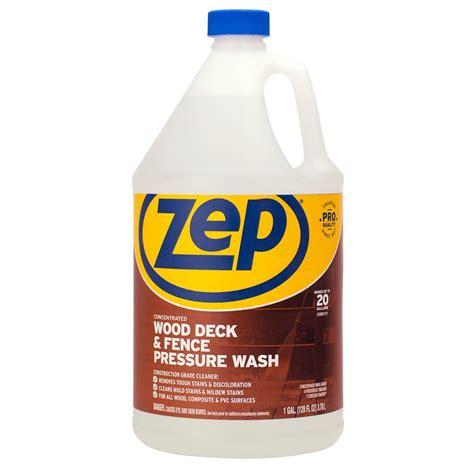 zep  gallon deck  fence cleaner zudfw  home depot