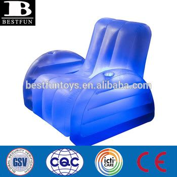 blow up armchair high strength pvc inflatable blow up led arm chair durable plastic light up inflatable