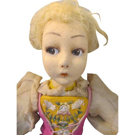 lenci boudoir doll felt lenci boudoir doll in original from