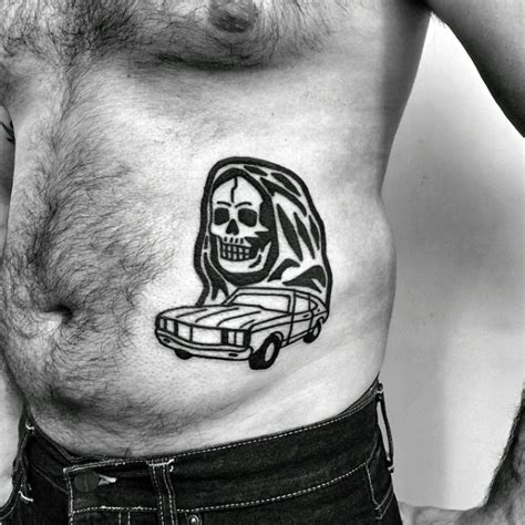 simple tattoo rib cage 40 simple skull tattoos for men bone ink design ideas