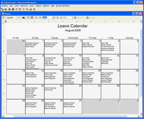 employee leave schedule template vacation calendars for employees calendar template 2016