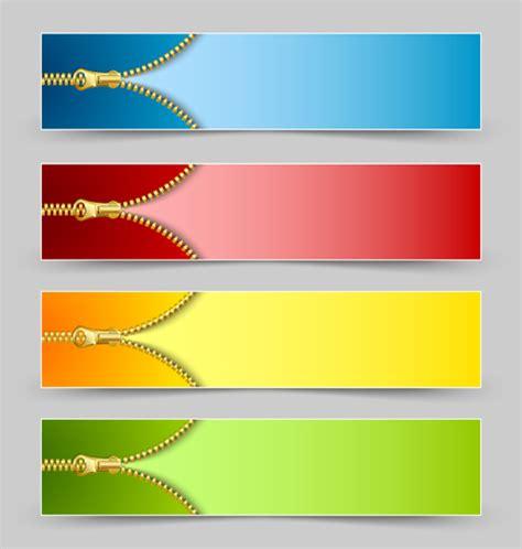 layout banner vector golden zipper banner vector over millions vectors stock
