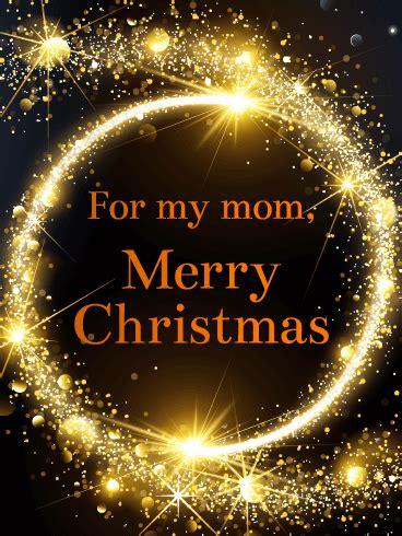 shining lights christmas card  mother birthday greeting cards  davia