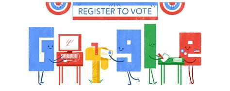 doodle to vote us voter registration day reminder