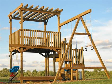 how to build a backyard play structure fort how did i