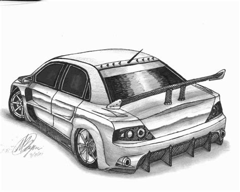 mitsubishi evo drawing mitsubishi lancer evo ix by xm31x on deviantart