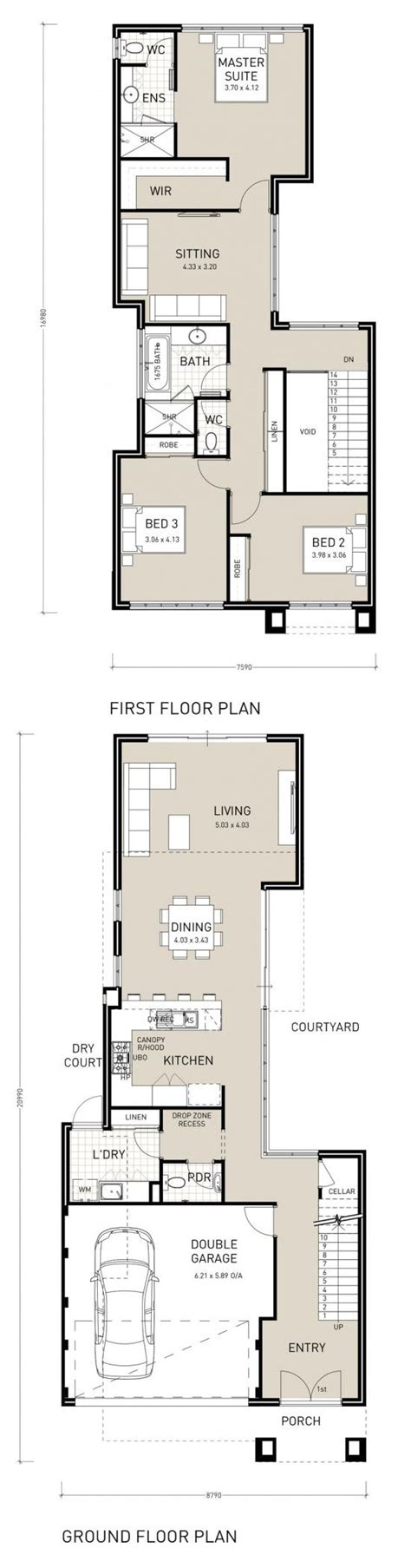 floor plans for narrow blocks 18 best images about narrow block plans on pinterest