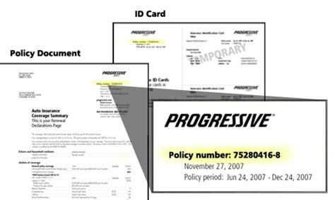 Progressive Auto Insurance Card, Progressive Auto