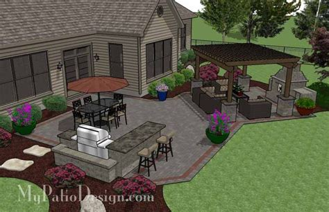 Large Patio Designs Triyae Large Backyard Patio Ideas Various Design