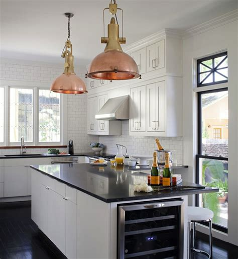 Chrome Kitchen Island Copper Light Pendants Design Ideas